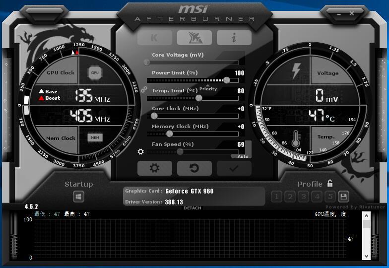 MSIAfterburnerwei微星小飞机硬件监控软件如何使用?