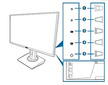 华硕显示器后面按键按了提示按键已锁定怎么办?